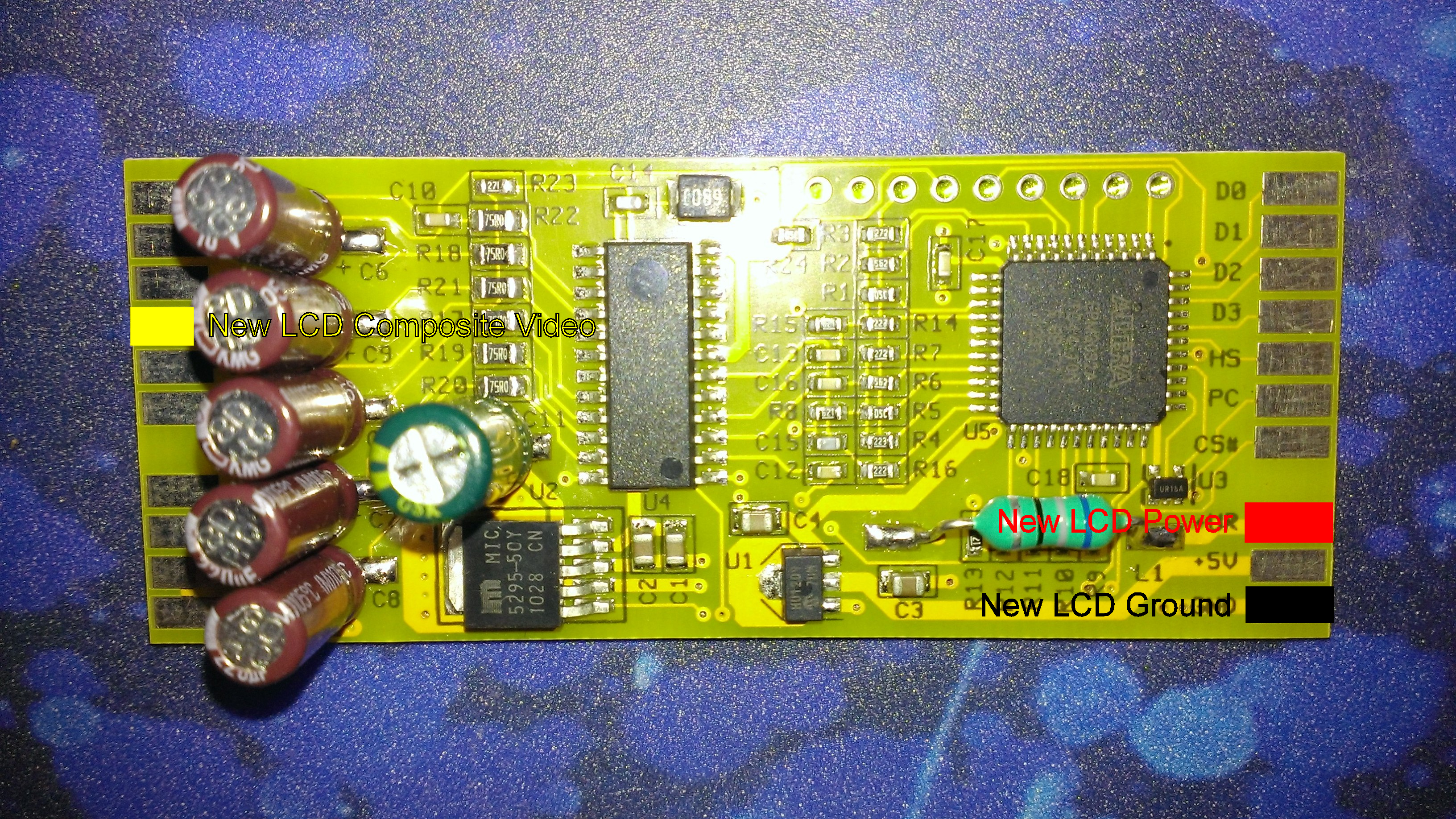 Sega Game Gear Rgb Composite S Video Out Mod With Lcd Upgrade No If Circuit Tv Ggtv Wiring