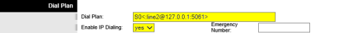 Dreamcast Setup for Linksys PAP2T - Line 1 - Dial Plan