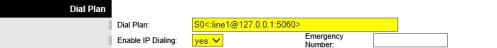 Dreamcast Setup for Linksys PAP2T - Line 2 - Dial Plan